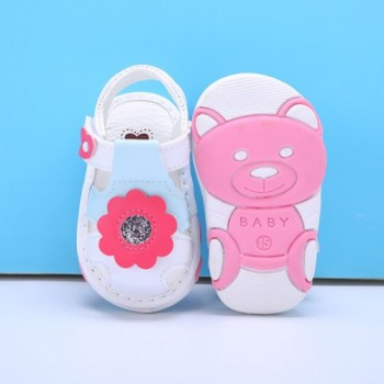Z-SANDAL WITH SOUND (FLOWER WHITE)