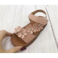 SANDAL GIRL FLOWER (BROWN)