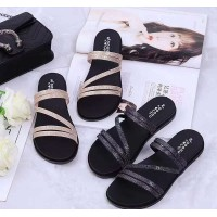 WOMEN - FLAT SANDAL (BLUE BLACK)