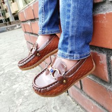 CNY SALES: LOAFER CHECKERED (BROWN)