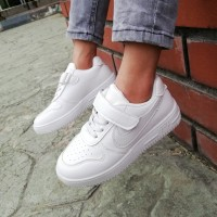NIKE AIR FORCE SNEAKERS (WHITE)