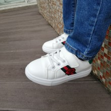 CLEARANCE- GUCCI FLOWER SNEAKERS (WHITE)