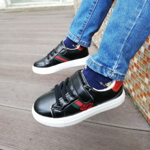 CLEARANCE- GUCCI FLOWER SNEAKERS (BLACK)