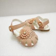 HALF SHOES FLOWER 2 (BEIGE)