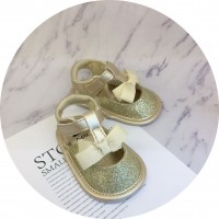 PREWALKER SANDAL RIBBON (GOLD)