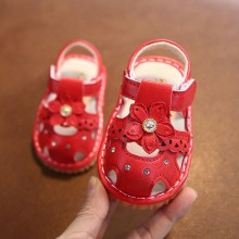 SANDAL WITH SOUND FLOWER (RED)