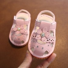 SANDAL WITH SOUND FLOWER (PINK)
