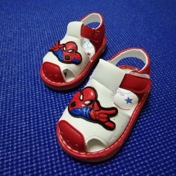 SANDAL WITH SOUND SPIDERMAN (RED)