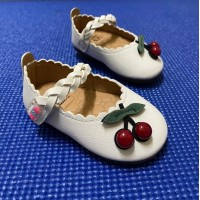 CHERRY SHOES (WHITE)