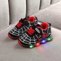 LAMP SHOES SPIDERMAN (BLACK)