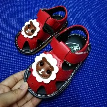 SANDAL WITH SOUND LION (RED)