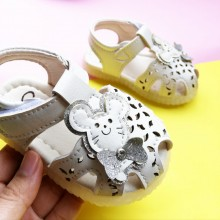 CLEARANCE SALES: SANDAL HALF SHOES TEDDY (CREAM WHITE)