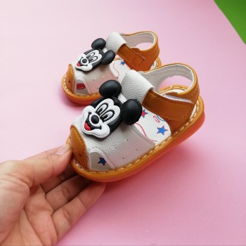 SANDAL WITH SOUND MiCKEY (YELLOW)
