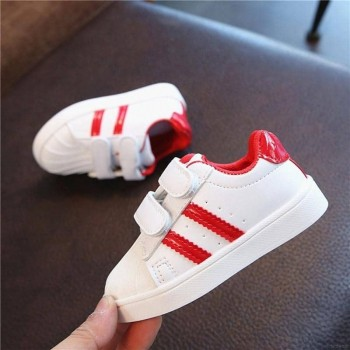 ADIDAS STRAP SNEAKERS (RED)