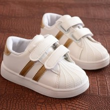 ADIDAS STRAP SNEAKERS (GOLD)
