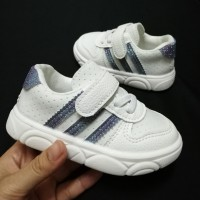 ADIDAS 3 LINE SNEAKERS (WHITE)