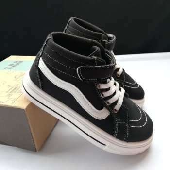 HIGH CUT VANS SNEAKERS (BLACK) SMALL SIZE