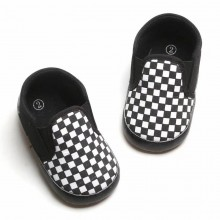 PREWALKER CHECKERED (BLACK BLACK)