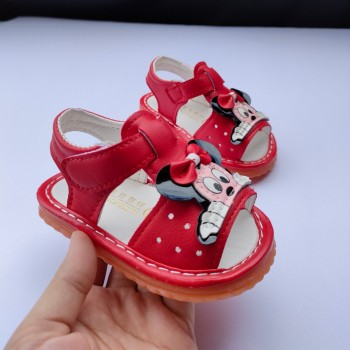 SANDAL WITH SOUND MICKEY (RED)