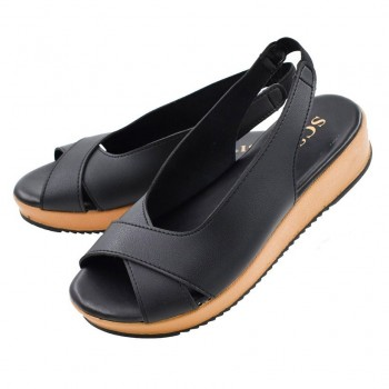 WEDGES SHOES WS001 (BLACK)