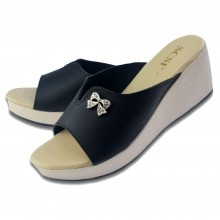 WEDGES SHOES WS004 (BLACK)
